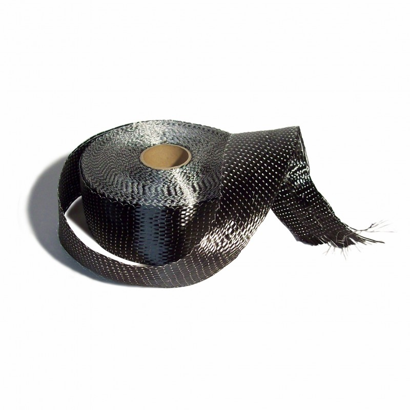 Koolstofband UD 7.5 cm.br.  340 gr/m² - 5 mtr
