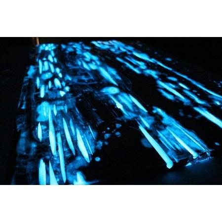 Glow in the dark poeder / blauw - 300 gr